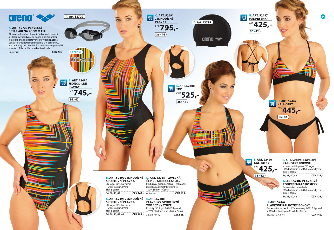 Sportovní plavky 2018  strana 64  - katalog LITEX f75a88658c
