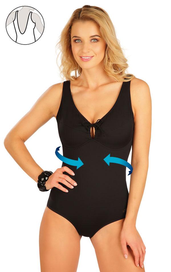 Stahující jednodílné plavky s kosticemi. 50610   Jednodílné plavky LITEX