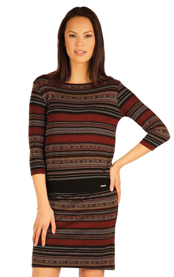 Šaty dámské s 3/4 rukávem. 51018 | Šaty a sukně LITEX