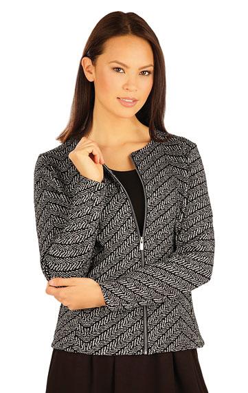 Kabátek dámský s dlouhým rukávem.