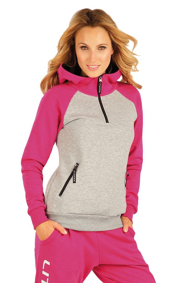 Mikina dámská s kapucí. 51249 | Sportovní oblečení LITEX