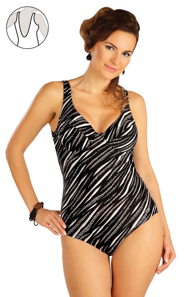 Jednodílné plavky s kosticemi. 52434 | Jednodílné plavky LITEX
