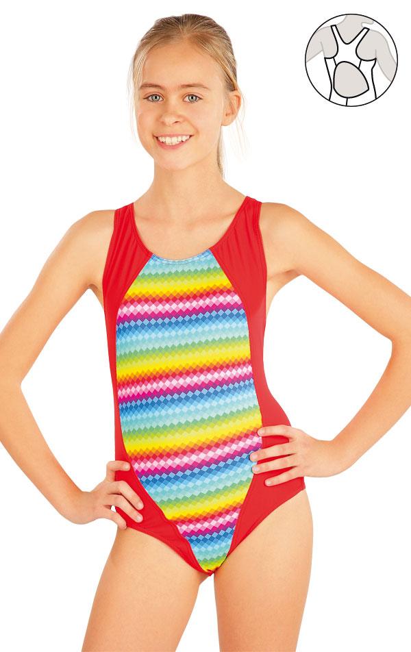 Dívčí jednodílné sportovní plavky. 52612  3d1d65220c