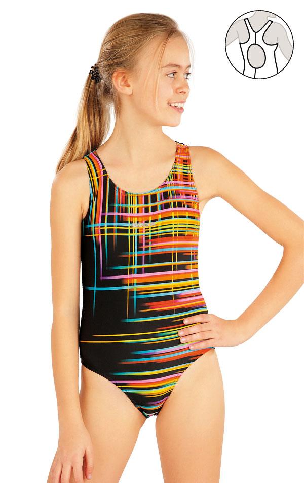 Dívčí jednodílné sportovní plavky. 52626 | Dívčí plavky LITEX