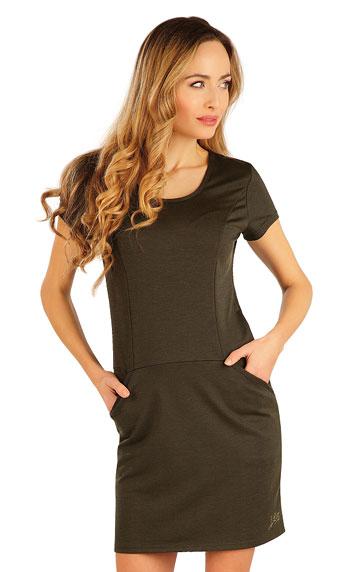 Šaty dámské s krátkým rukávem.