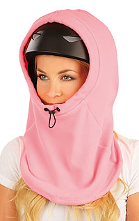 Fleecová kukla lyžarská na helmu.