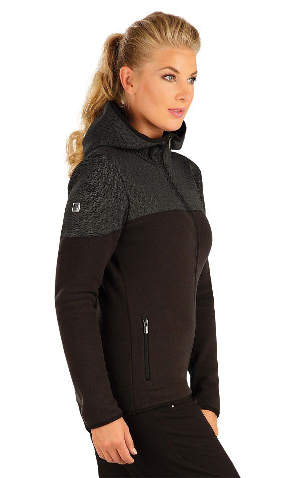 Fleecová mikina dámská s kapucí. 55192 | Vesty a bundy LITEX