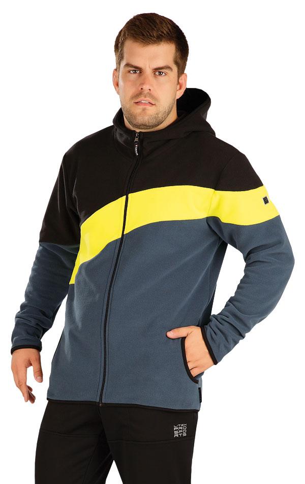 Fleecová mikina pánská s kapucí. 55222 | Sportovní oblečení LITEX