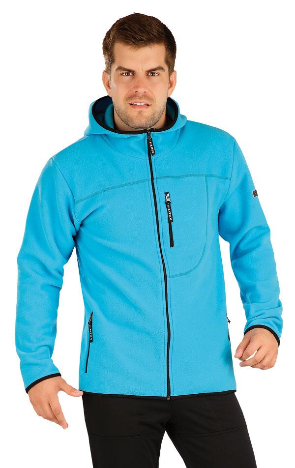 Fleecová mikina pánská s kapucí. 55229 | Pánské oblečení LITEX