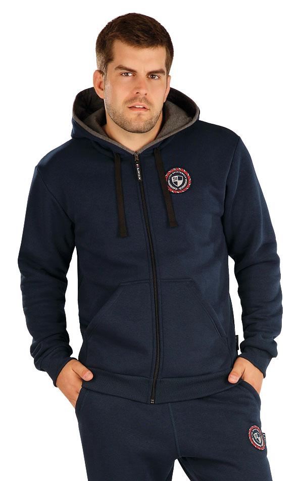 Mikina pánská na zip s kapucí. 55286 | Pánské oblečení LITEX