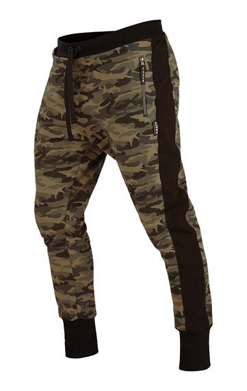 Kalhoty pánské dlouhé s nízkým sedem.