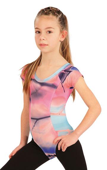 DĚTSKÉ OBLEČENÍ > Gymnastický dres dětský s krát. rukávy. 55438