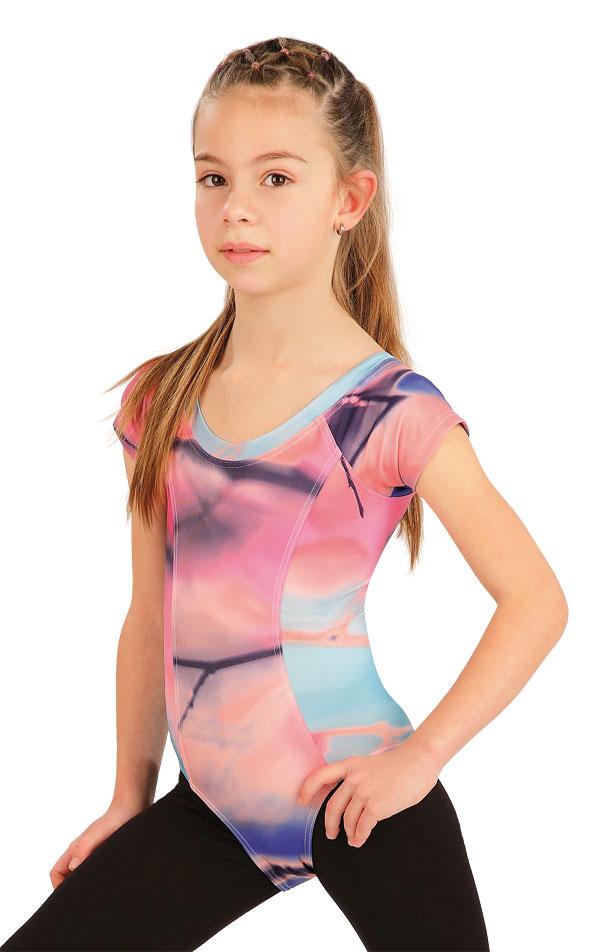 Gymnastický dres dětský s krát. rukávy. 55438 | Sportovní oblečení LITEX
