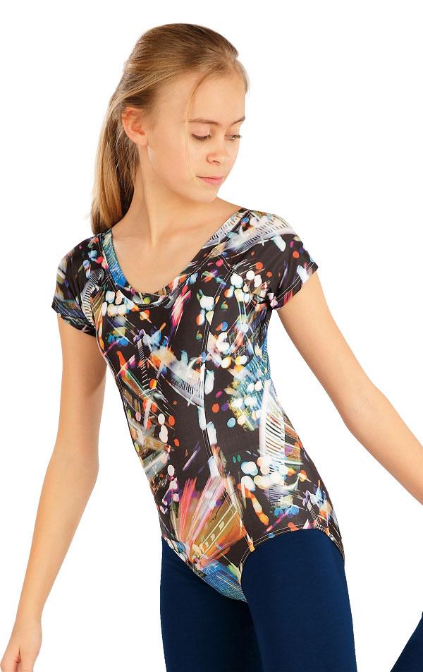 Gymnastický dres dětský s kr. rukávy. 55439 | Dětské oblečení LITEX