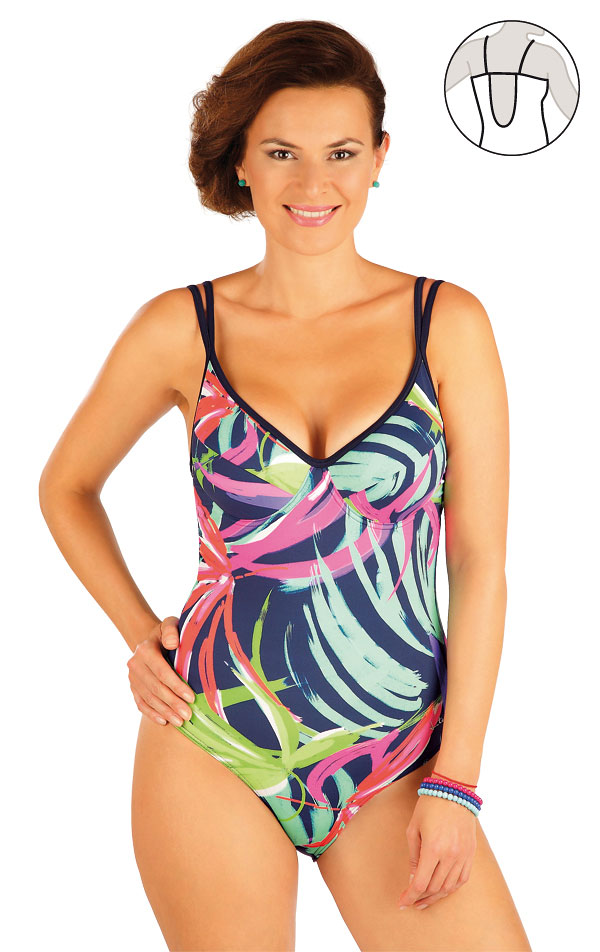 Jednodílné plavky s kosticemi. 57240 | Jednodílné plavky LITEX
