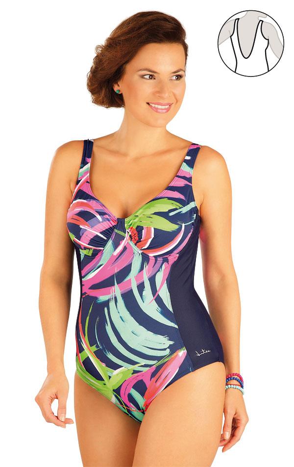 Jednodílné plavky s kosticemi. 57241 | Jednodílné plavky LITEX