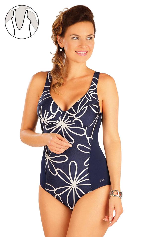 Jednodílné plavky s kosticemi. 57348 | Jednodílné plavky LITEX