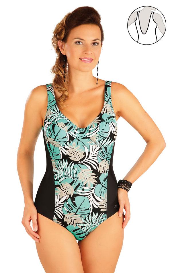 Jednodílné plavky s kosticemi. 57364   Jednodílné plavky LITEX