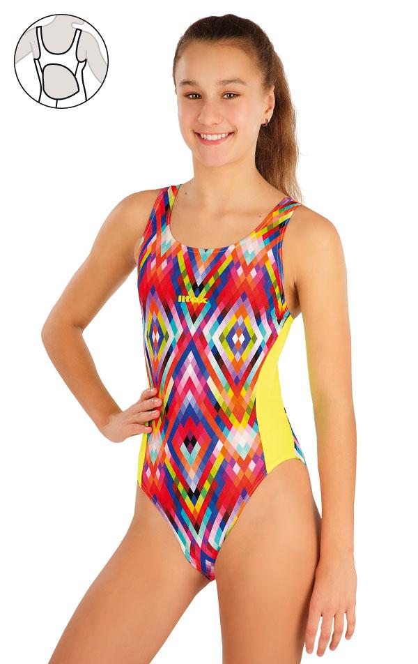 Dívčí jednodílné sportovní plavky. 57569 | Dívčí plavky LITEX