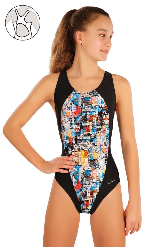 Dívčí jednodílné sportovní plavky. 57586 | Dívčí plavky LITEX