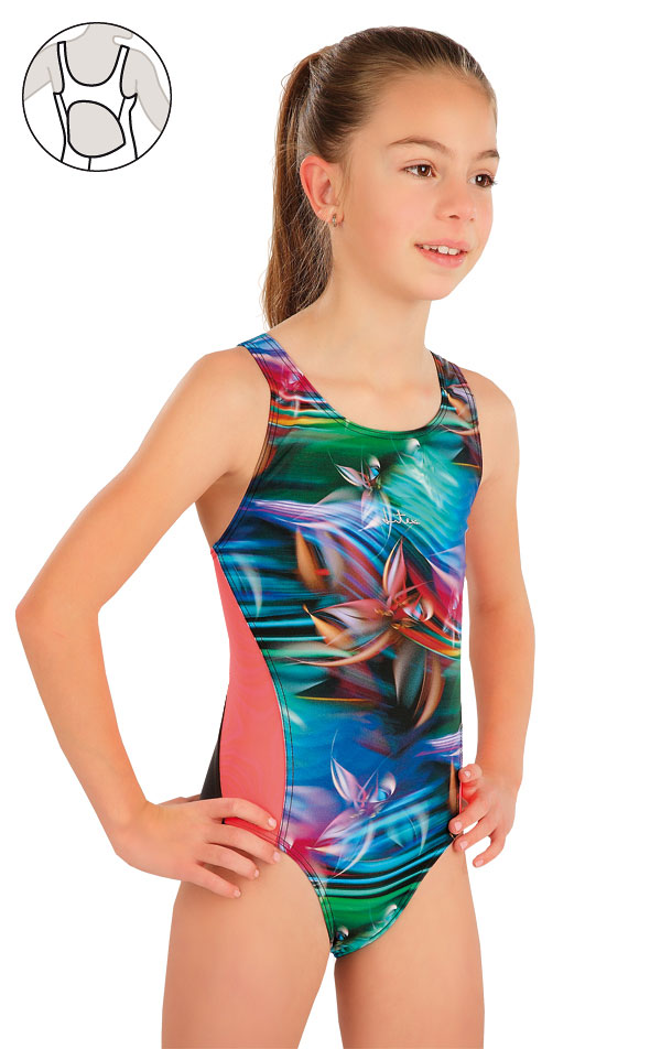 Dívčí jednodílné sportovní plavky. 57588 | Dívčí plavky LITEX