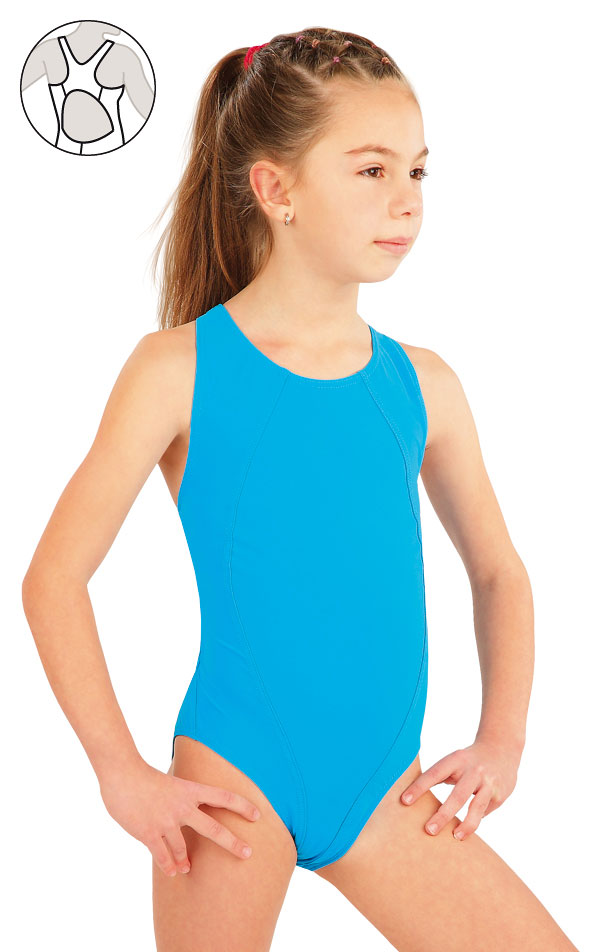 Dívčí jednodílné sportovní plavky. 57592   Dívčí plavky LITEX