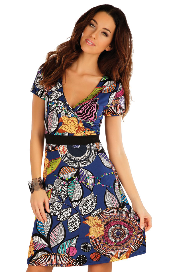 Šaty dámské s krátkým rukávem. 58084 | Šaty a sukně LITEX