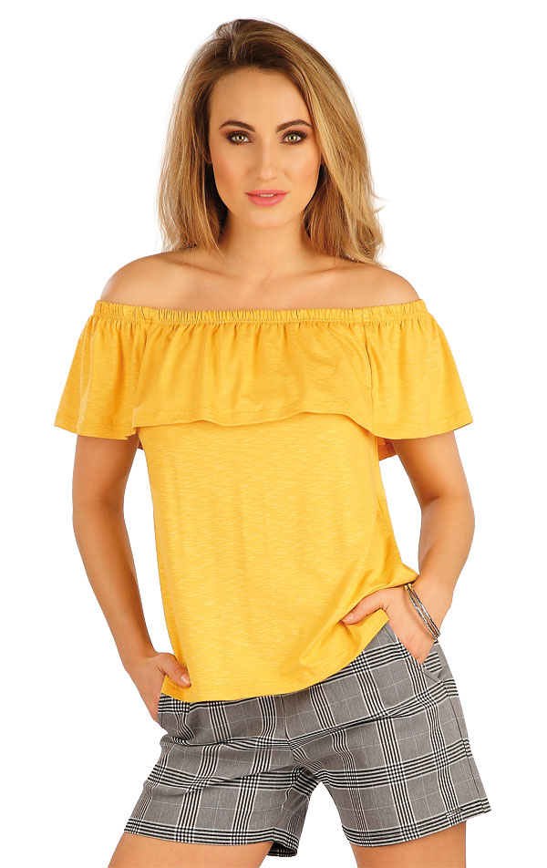 Tričko dámské s volánem. 5A013 | Tílka, trička, halenky LITEX