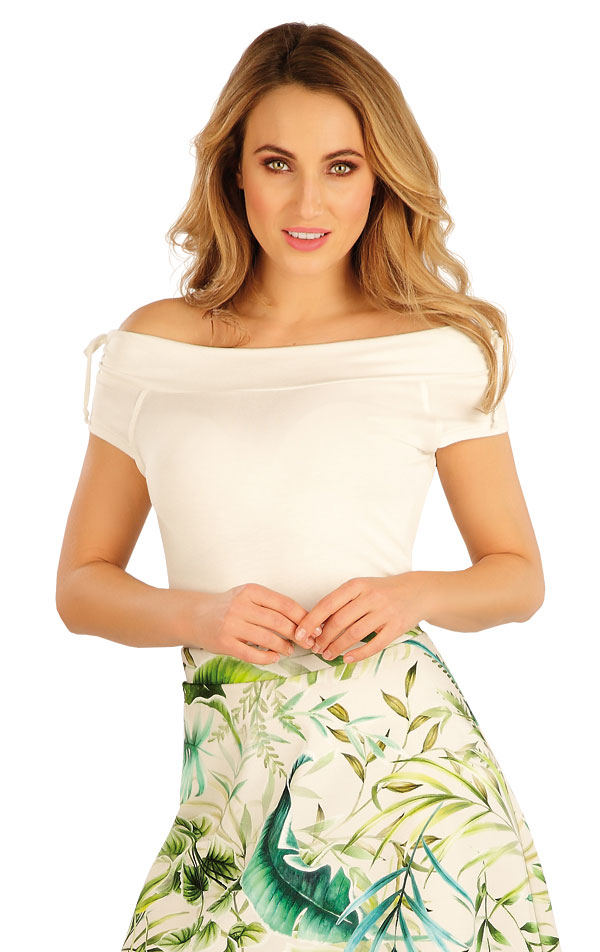 Tričko dámské s krátkým rukávem. 5A164 | Tílka, trička, halenky LITEX