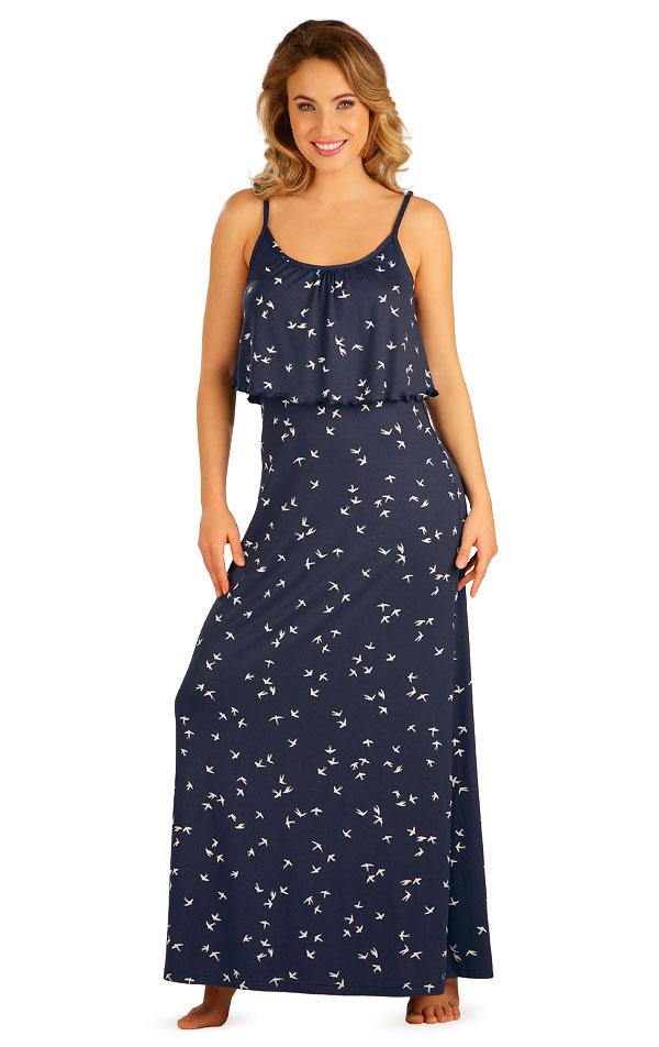 Šaty dámské dlouhé s volánem. 5B035 | Šaty, sukně, tuniky LITEX