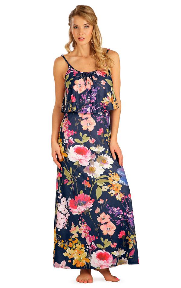 Šaty dámské dlouhé s volánem. 5B092 | Šaty, sukně, tuniky LITEX