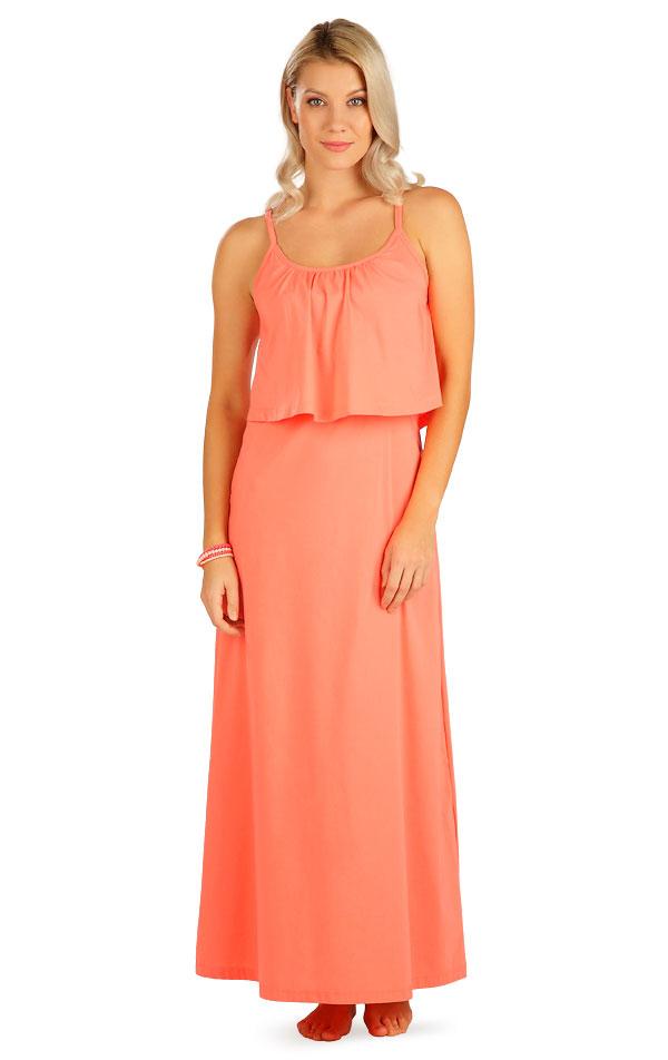 Šaty dámské dlouhé s volánem. 5B099   Šaty, sukně, tuniky LITEX