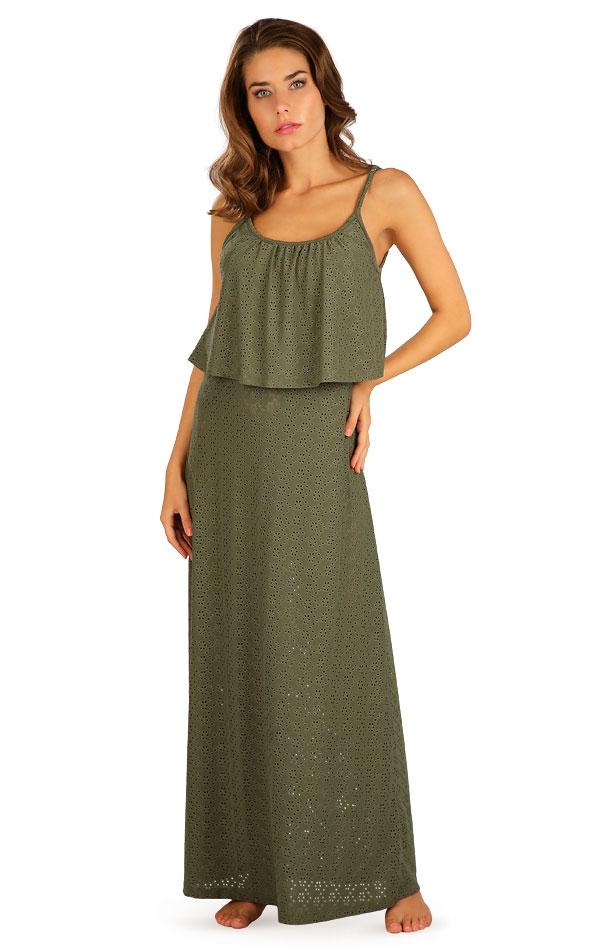 Šaty dámské dlouhé s volánem. 5B119 | Šaty, sukně, tuniky LITEX