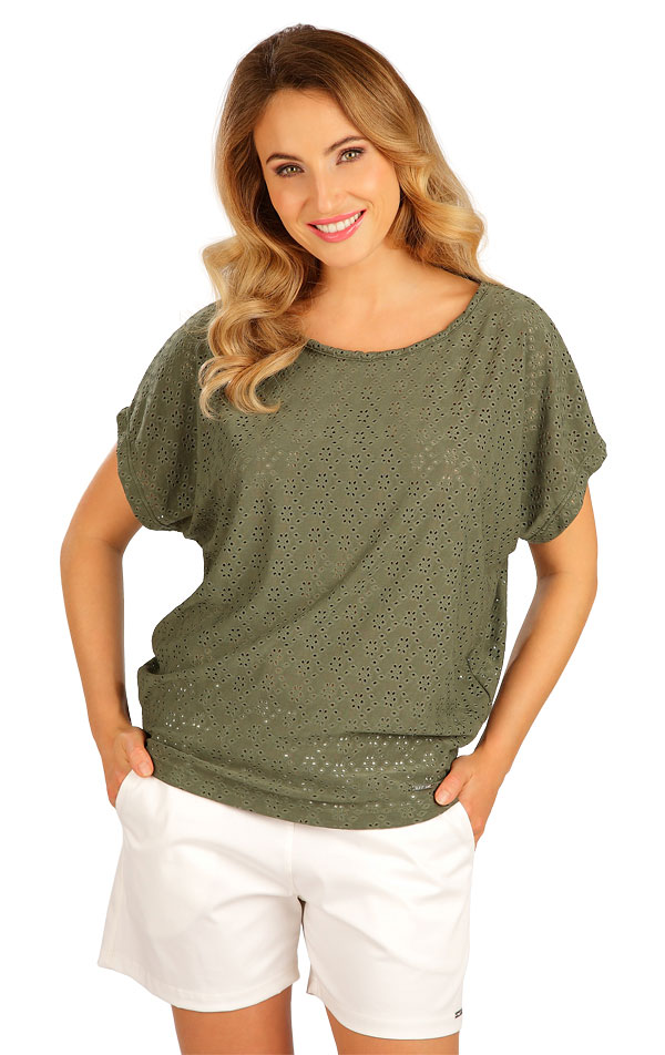 Tričko dámské s krátkým rukávem. 5B120 | Tílka, trička, halenky LITEX
