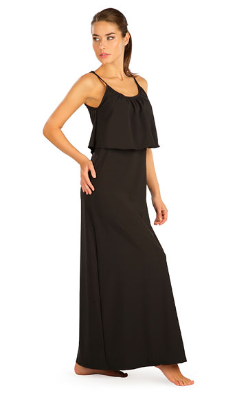 Šaty dámské dlouhé s volánem.