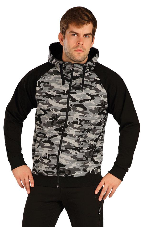 Mikina pánská na zip s kapucí. 5B260 | Mikiny, bundy LITEX