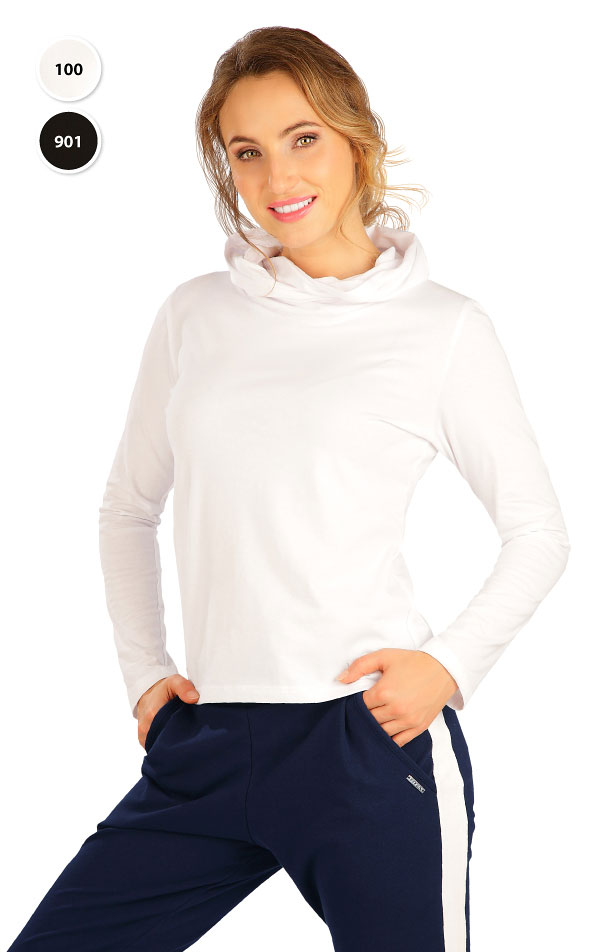 Tričko dámské s překříženou kapucí. 5B279 | Tílka, trička, halenky LITEX
