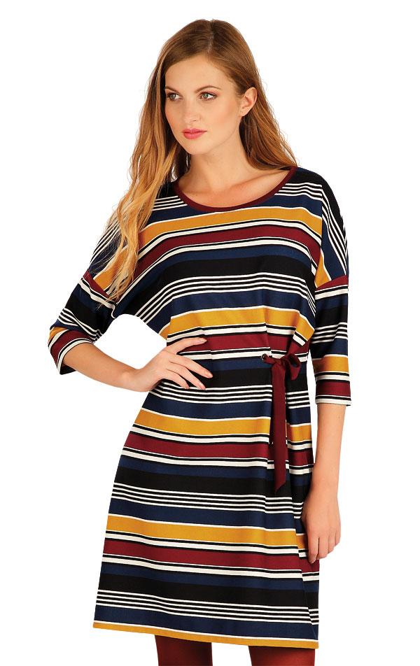Šaty dámské s 3/4 rukávem. 60015   Šaty, sukně, tuniky LITEX