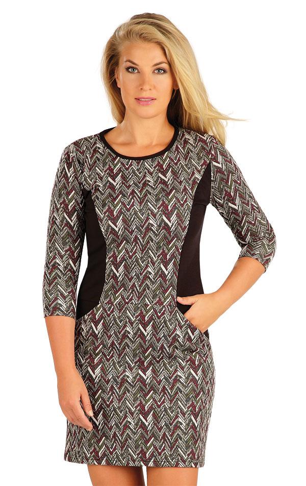 Šaty dámské s 3/4 rukávem. 60038 | Šaty, sukně, tuniky LITEX