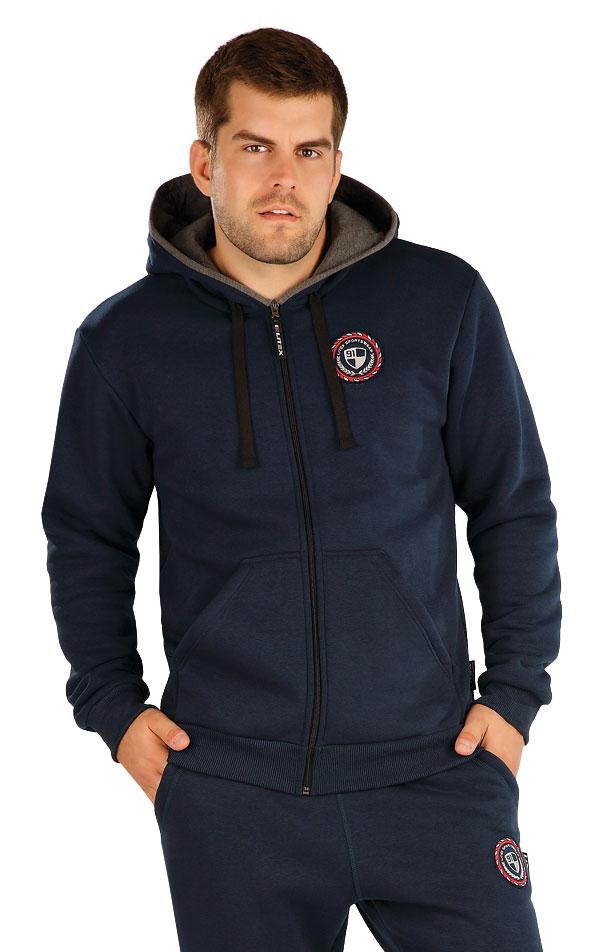 Mikina pánská na zip s kapucí. 60334 | Pánské oblečení LITEX