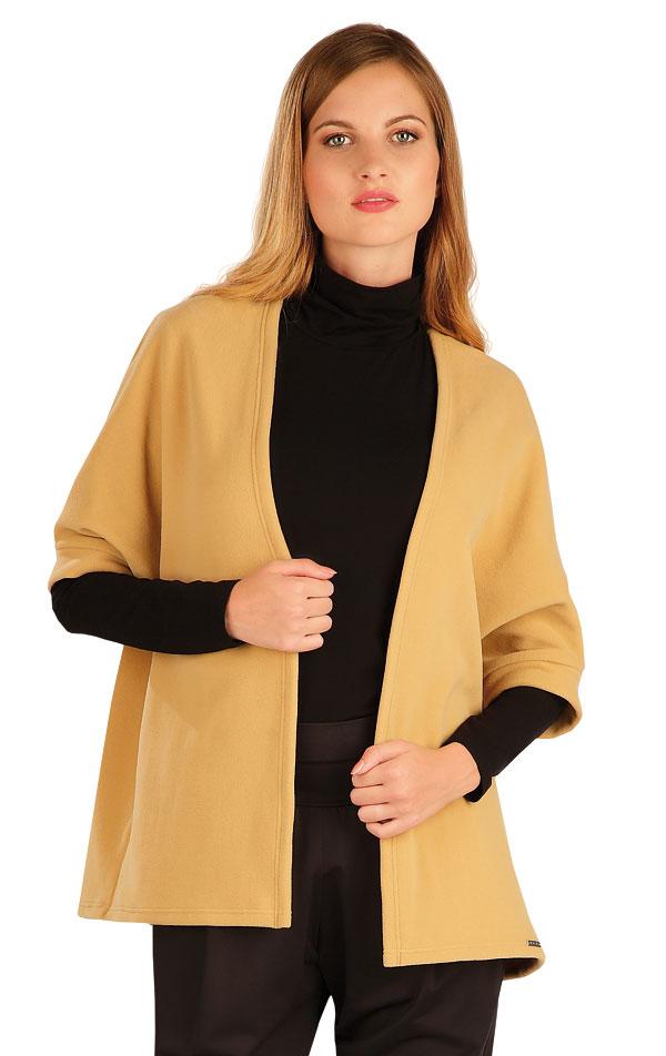 Fleecový cardigan s netopýřím rukávem. 60495 | Bundy, vesty, kabátky LITEX