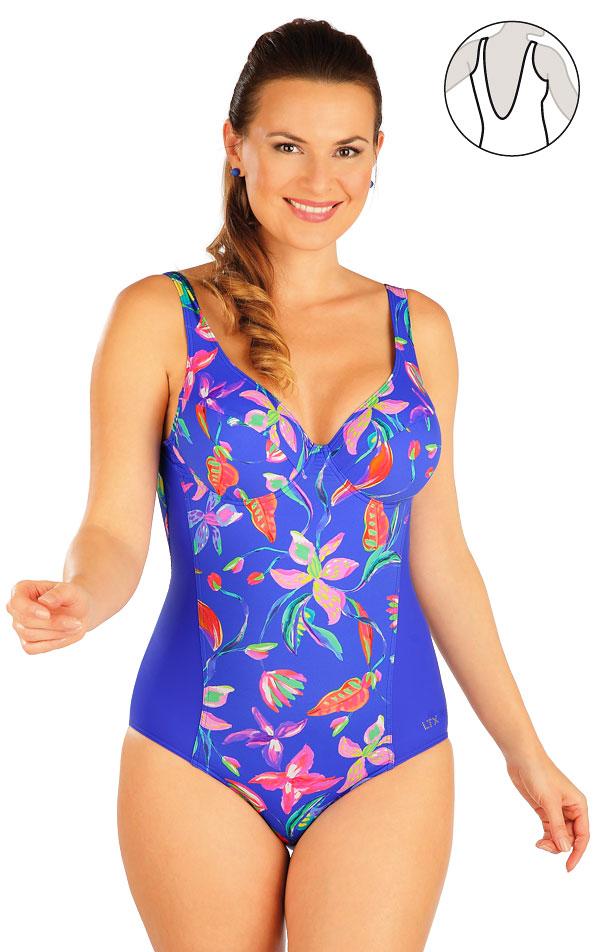 Jednodílné plavky s kosticemi. 63123 | Jednodílné plavky LITEX