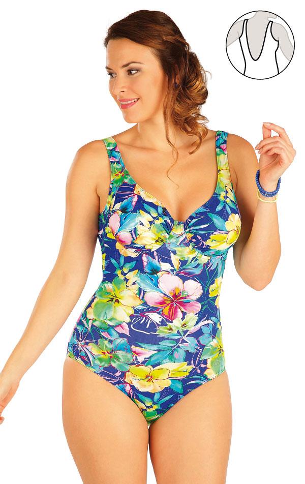 Jednodílné plavky s kosticemi. 63247   Jednodílné plavky LITEX