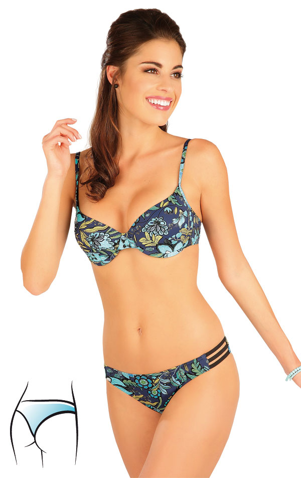 Plavky kalhotky string bokové. 63315 | Dvoudílné plavky LITEX