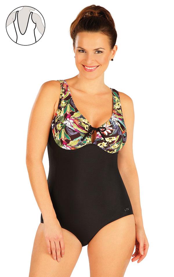 Jednodílné plavky s kosticemi. 63346   Jednodílné plavky LITEX