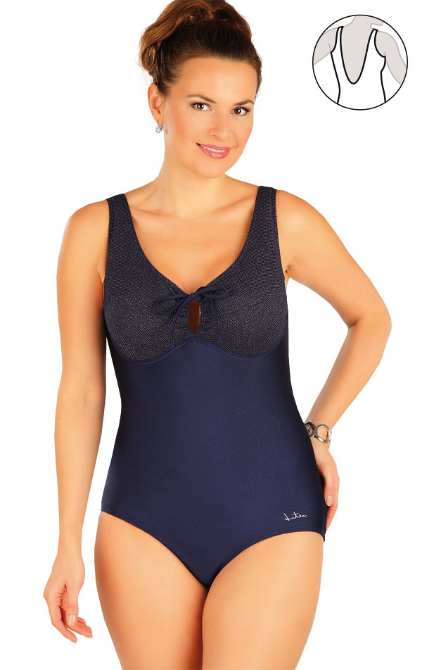 Jednodílné plavky s kosticemi. 63409 | Jednodílné plavky LITEX