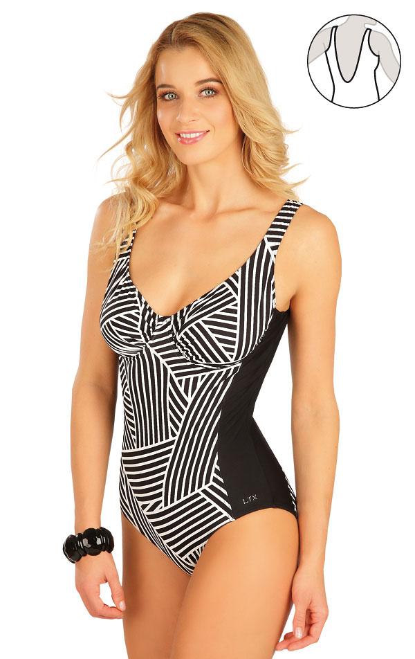 Jednodílné plavky s kosticemi. 63416 | Jednodílné plavky LITEX
