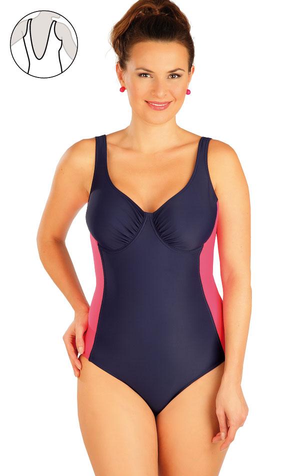 Jednodílné plavky s kosticemi. 63476   Jednodílné plavky LITEX