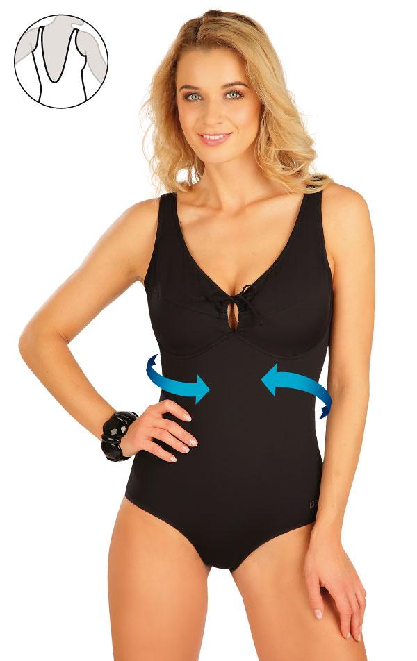 Stahující jednodílné plavky s kosticemi. 63510 | Jednodílné plavky LITEX