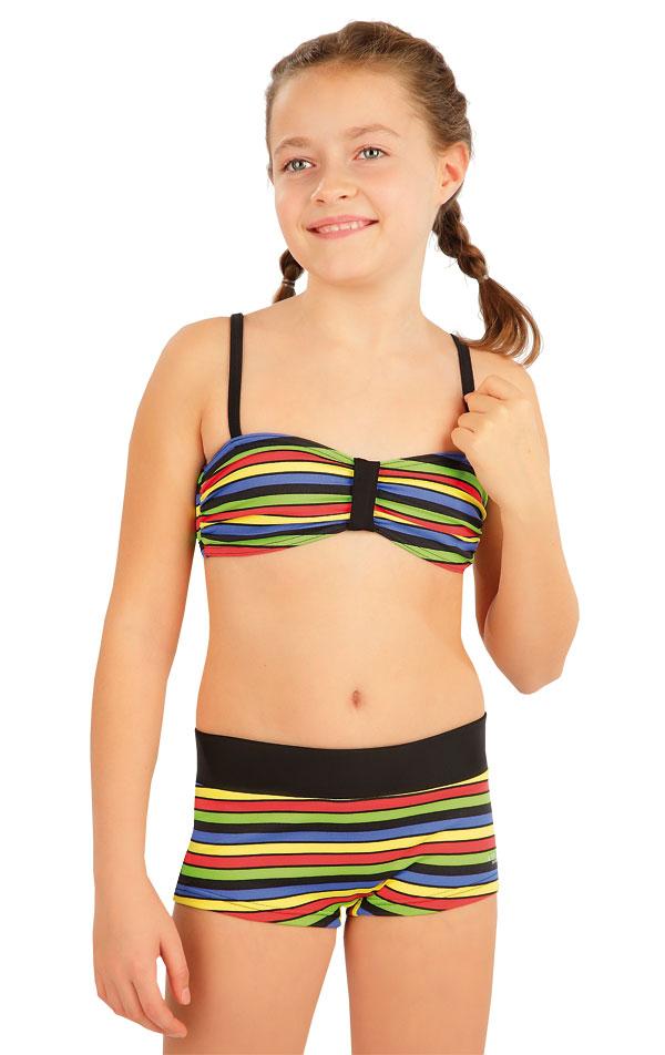Dívčí plavky kalhotky bok. s nohavičkou. 63602 | Dívčí plavky LITEX